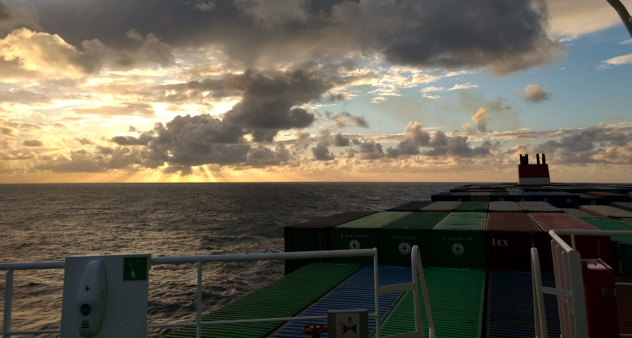 Crossing the Pacific Ocean by Cargo Ship